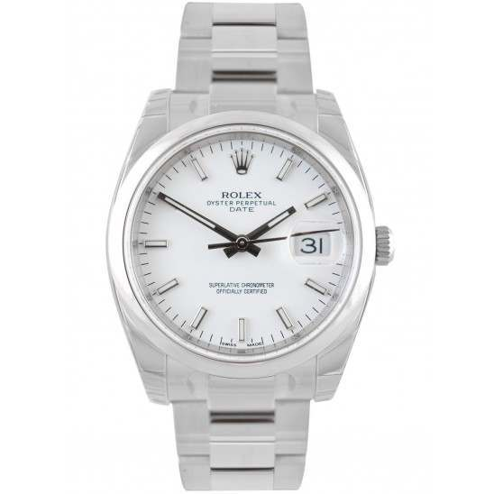 Rolex Date White/index Oyster 115200
