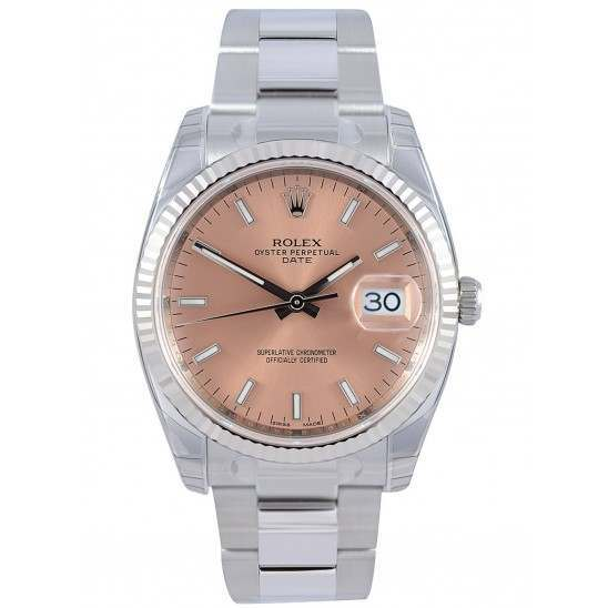 Rolex Date Pink/index Oyster 115234