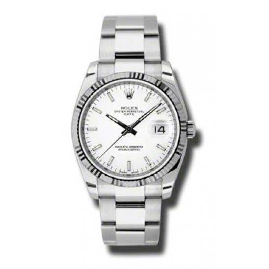 Rolex Date White/index Oyster 115234
