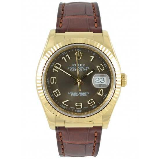 Rolex Datejust 36mm Bronze Arabic 116138