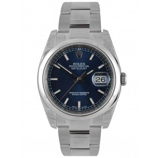 Rolex Datejust Blue/index Oyster 116200