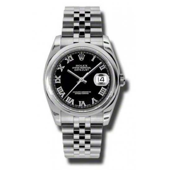 Rolex Datejust Black Roman Jubilee 116200