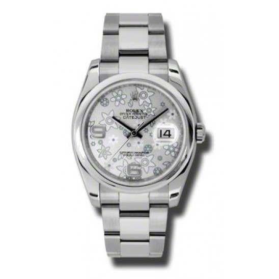 Rolex Datejust Silver Arab Oyster 116200