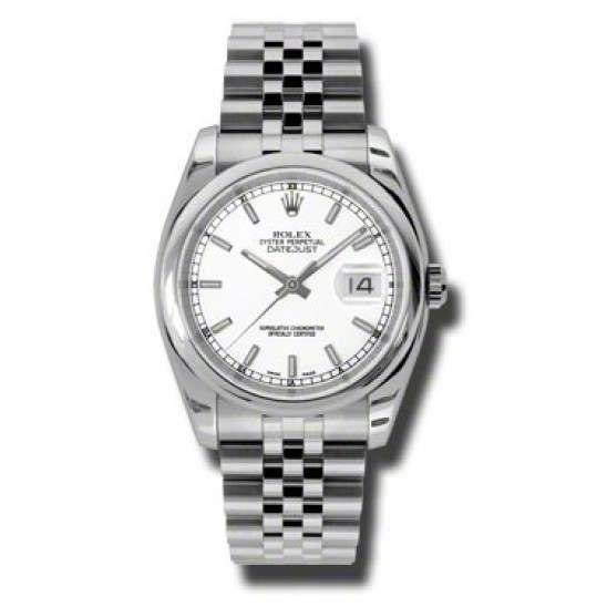 Rolex Datejust White/index Jubilee 116200