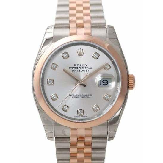 Rolex Datejust Silver/Diamond Jubilee 116201