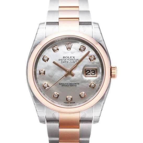 Rolex Datejust White mop/Diamond Oyster 116201