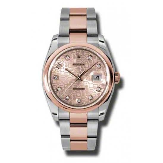 Rolex Datejust Pink Jub Diamond Oyster 116201