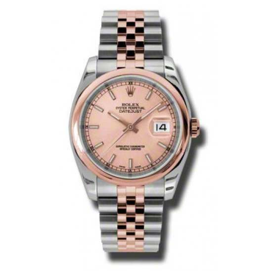 Rolex Datejust Pink/index Jubilee 116201