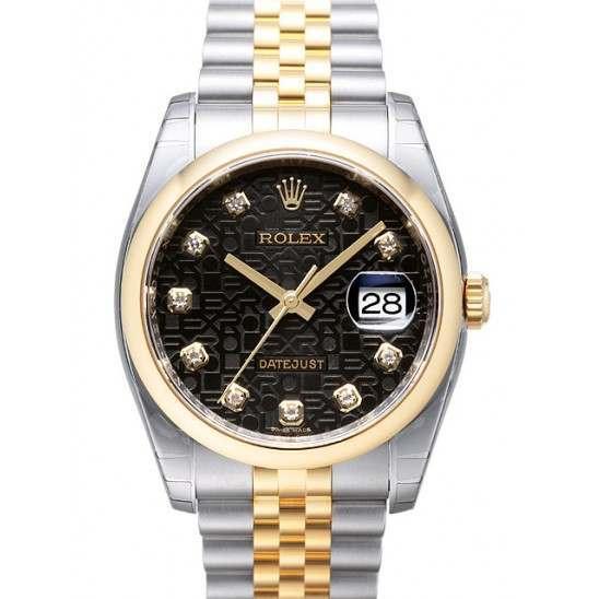 Rolex Datejust Black Jub/Diamond Jubilee 116203