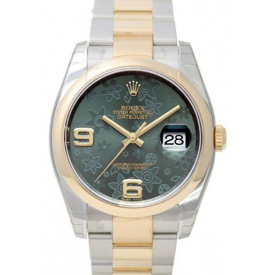 Rolex Datejust Green Arab Oyster 116203