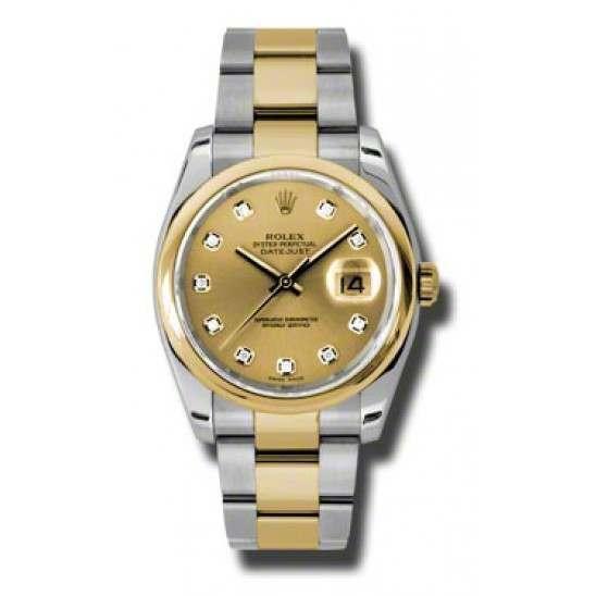 Rolex Datejust Champagne/Diamond Oyster 116203