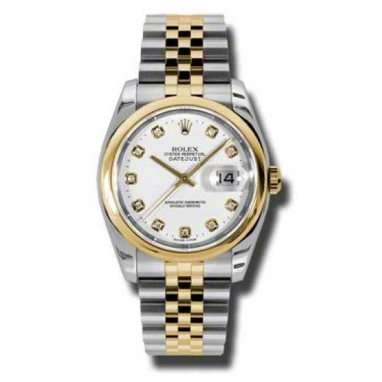 Rolex Datejust White/Diamond Jubilee 116203