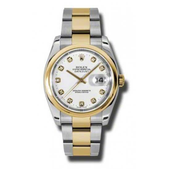 Rolex Datejust White/Diamond Oyster 116203
