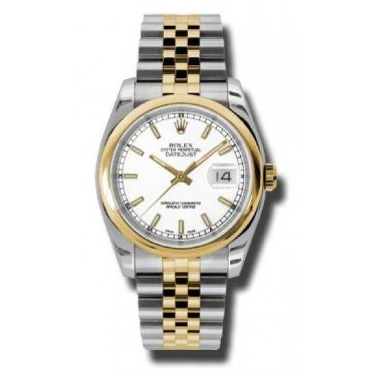 Rolex Datejust White/index Jubilee 116203