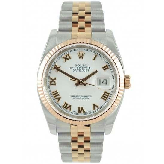 Rolex Datejust White Roman Jubilee 116231