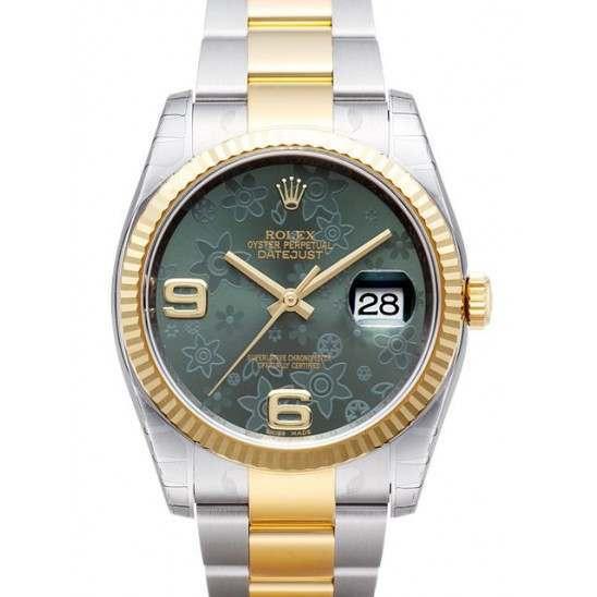 Rolex Datejust Green Arab Oyster 116233