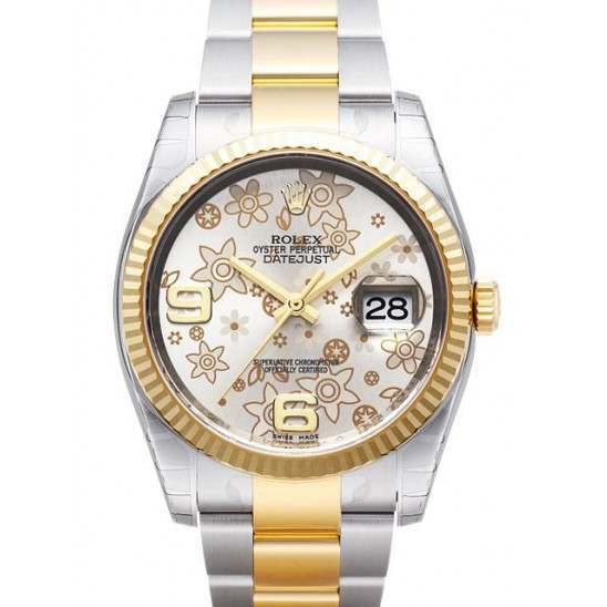Rolex Datejust Silver Arab Oyster 116233