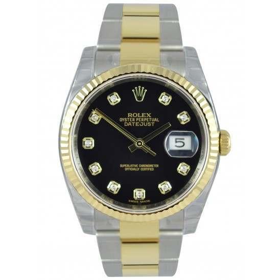 Rolex Datejust Black/Diamond Oyster 116233