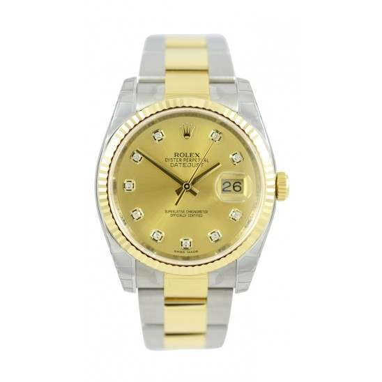 Rolex Datejust Champagne/Diamond Oyster 116233