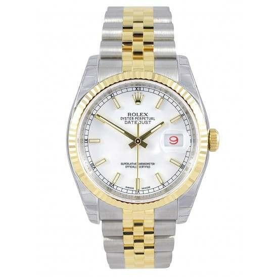Rolex Datejust White/index Jubilee 116233