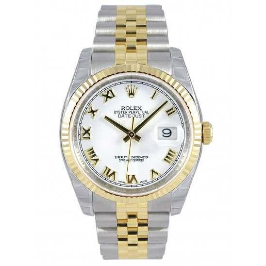 Rolex Datejust White Roman Jubilee 116233