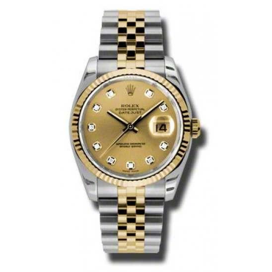 Rolex Datejust Champagne/Diamond Jubilee 116233