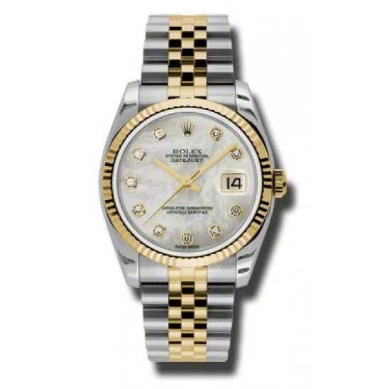 Rolex Datejust White mop/Diamond Jubilee 116233