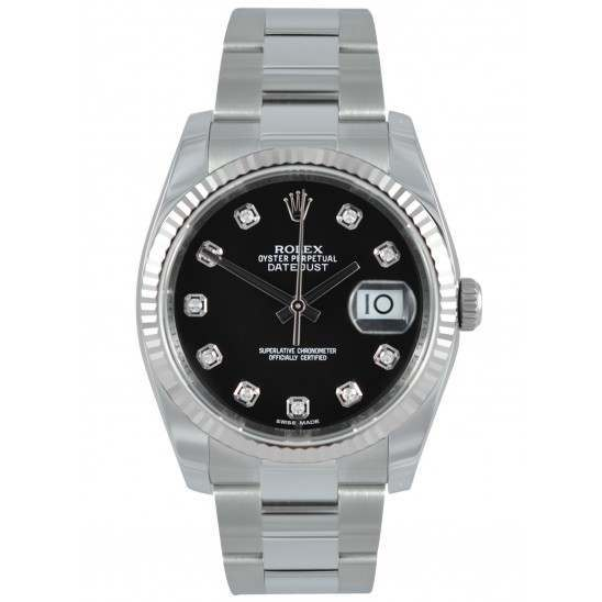 Rolex Datejust Black/Diamond Oyster 116234