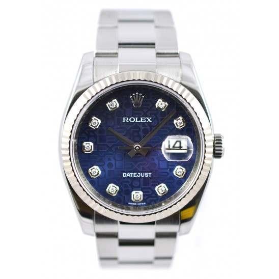 Rolex Datejust Blue Jub/Diamond Oyster 116234