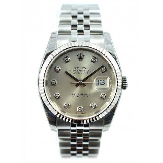 Rolex Datejust Silver/Diamond Jubilee 116234