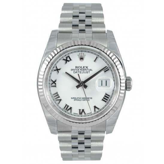 Rolex Datejust White Roman Jubilee 116234