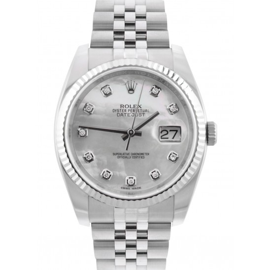 Rolex Datejust White MOP/ Diamond Jubilee 116234