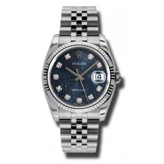 Rolex Datejust Blue Jub/Diamond Jubilee 116234