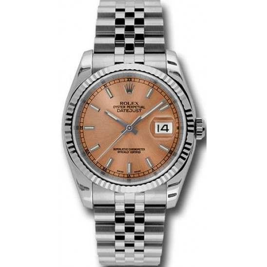 Rolex Datejust Pink/index Jubilee 116234