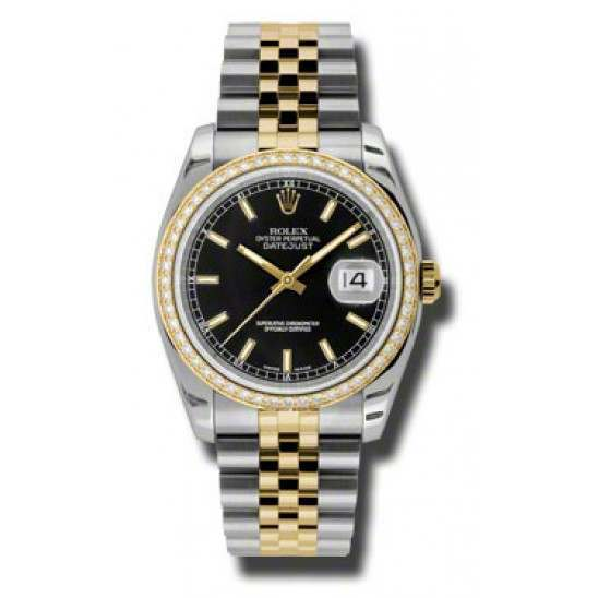 Rolex Datejust Black/index Jubilee 116243