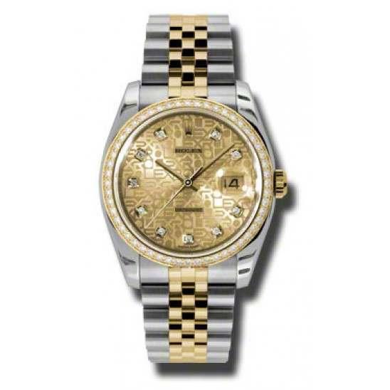 Rolex Datejust Champagne Jub/Diamond Jubilee 116243