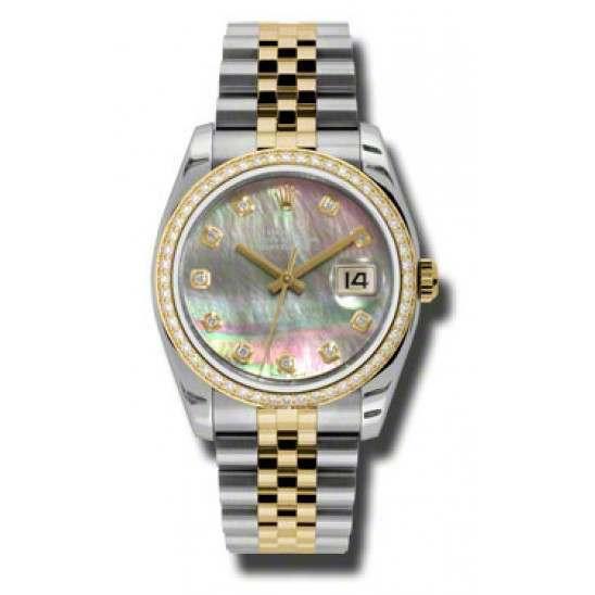 Rolex Datejust Black mop/Diamond Jubilee 116243