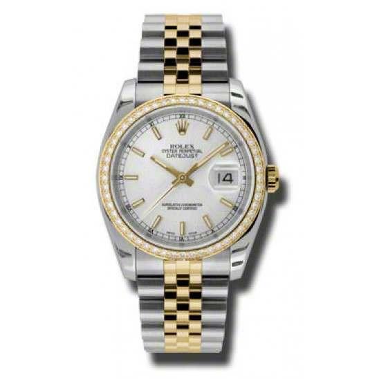 Rolex Datejust Silver/index Jubilee 116243