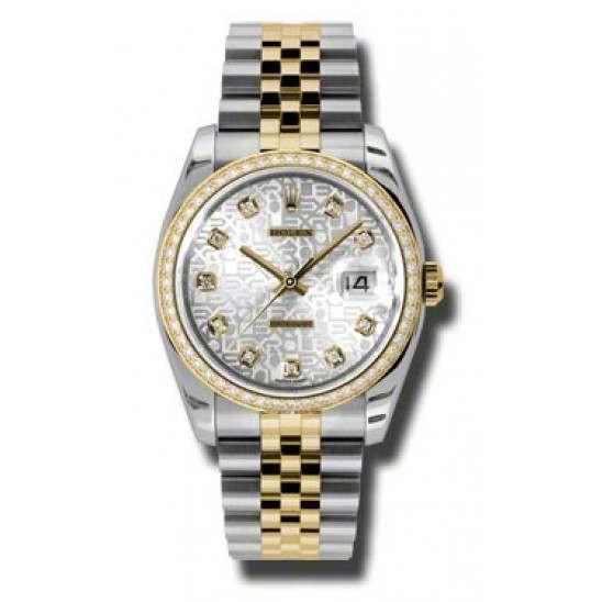 Rolex Datejust Silver Jub/Diamond Jubilee 116243