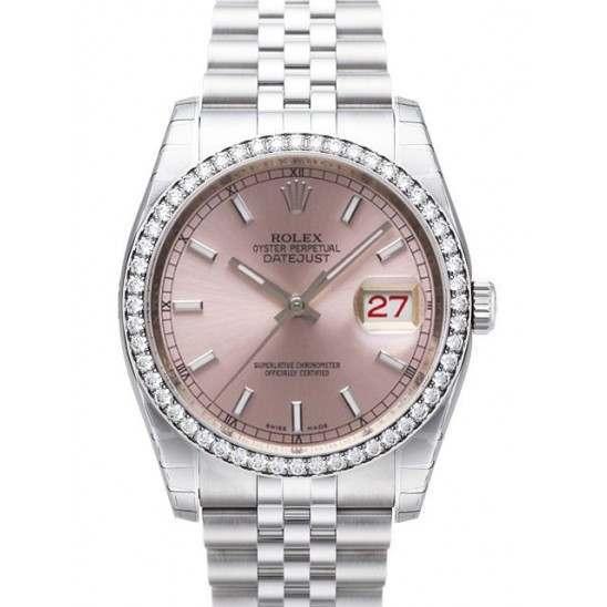 Rolex Datejust Pink/index Jubilee 116244