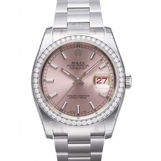 Rolex Datejust Pink/index Oyster 116244