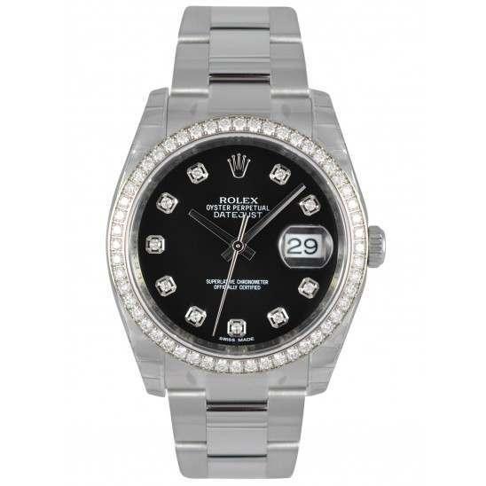 Rolex Datejust Black/Diamond Oyster 116244