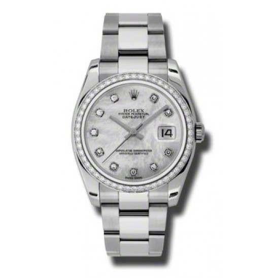 Rolex Datejust White mop/Diamond Oyster 116244
