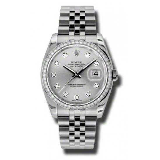 Rolex Datejust Silver/Diamond Jubilee 116244