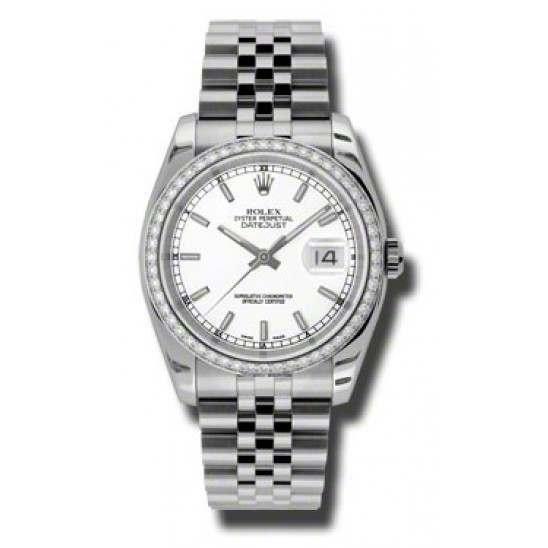 Rolex Datejust White/index Jubilee 116244