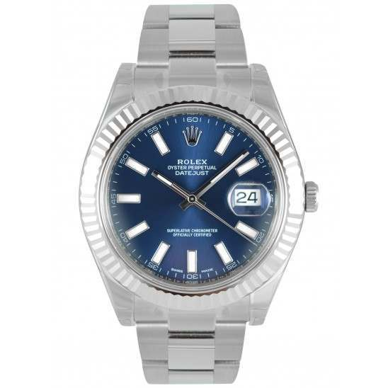 Rolex Datejust II Blue/index Oyster 116334