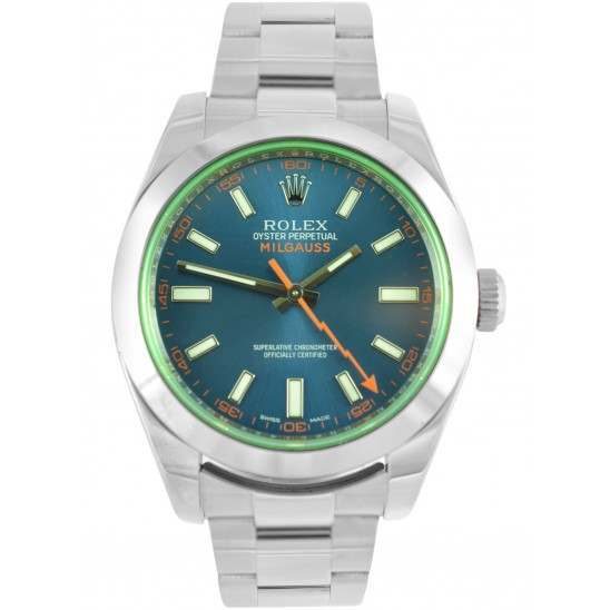 Rolex Milgauss Z-Blue Dial Oyster Bracelet 116400GV