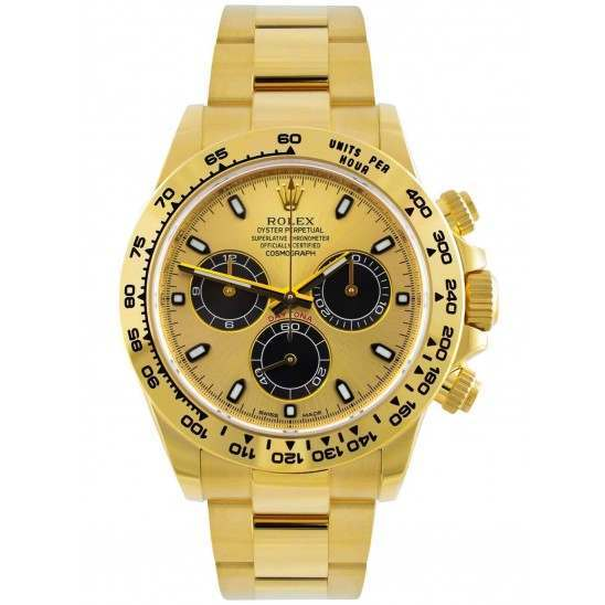 Rolex Cosmograph Daytona Champagne/ Black Dial Oyster 116508