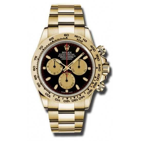 Rolex Cosmograph Daytona black/champagne Oyster 116508