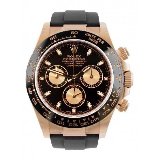 Rolex Cosmograph Daytona Everose Gold Black Dial Oysterflex 116515LN